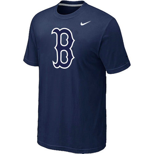 MLB MLB Boston Red Sox Heathered NikeD-Blue Blended T-Shirt