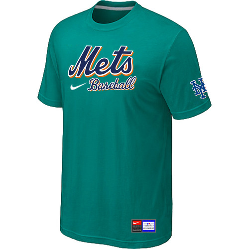 MLB New York Mets Green Nike Short Sleeve Practice T-Shirt