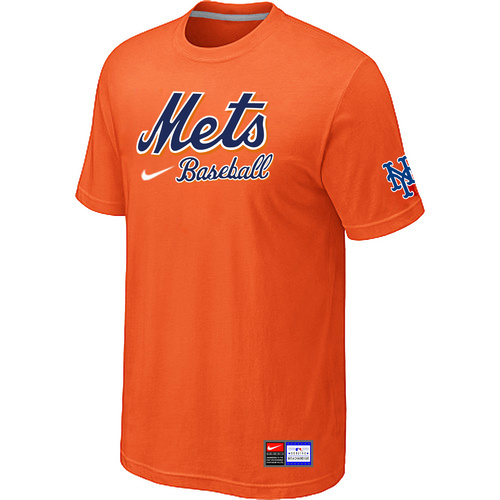 MLB New York Mets Orange Nike Short Sleeve Practice T-Shirt