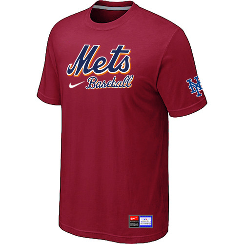 MLB New York Mets Red Nike Short Sleeve Practice T-Shirt
