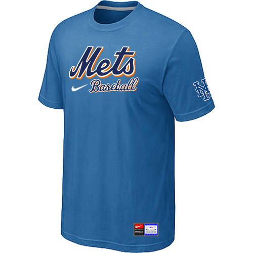 MLB New York Mets lightBlue Nike Short Sleeve Practice T-Shirt