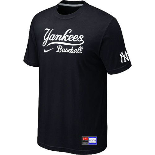 MLB New York Yankees Black Nike Short Sleeve Practice T-Shirt