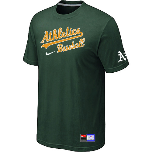 MLB Oakland Athletics D-Green Nike Short Sleeve Practice T-Shirt