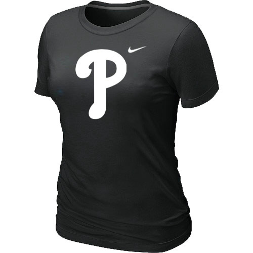 MLB Philadelphia Phillies Heathered Black Womens Nike Blended T-Shirt