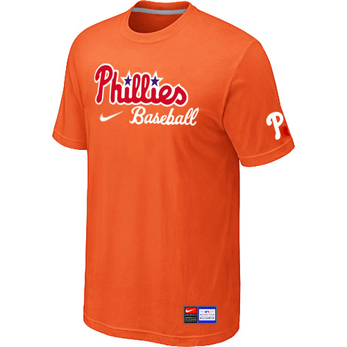 MLB Philadelphia Phillies Nike Short Sleeve Practice T-ShirtOrange