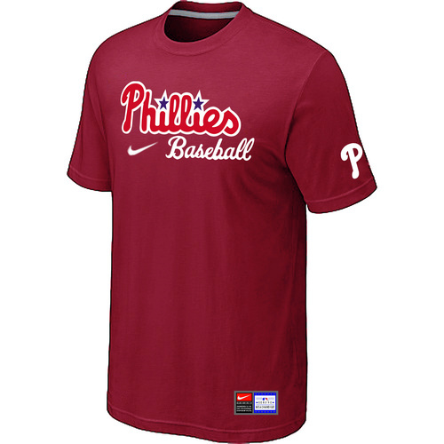 MLB Philadelphia Phillies Nike Short Sleeve Practice T-ShirtRed