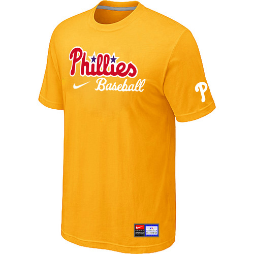 MLB Philadelphia Phillies Nike Short Sleeve Practice T-ShirtYellow