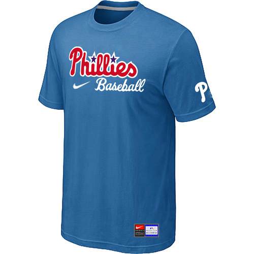 MLB Philadelphia Phillies Nike Short Sleeve Practice T-ShirtlightBlue