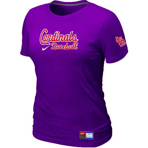 MLB St-Louis Cardinals Nike Womens Purple Short Sleeve Practice T-Shirt