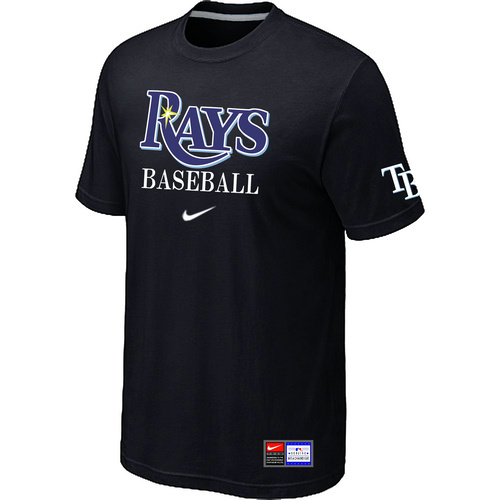 MLB Tampa Bay Rays Black Nike Short Sleeve Practice T-Shirt