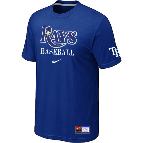 MLB Tampa Bay Rays Blue Nike Short Sleeve Practice T-Shirt