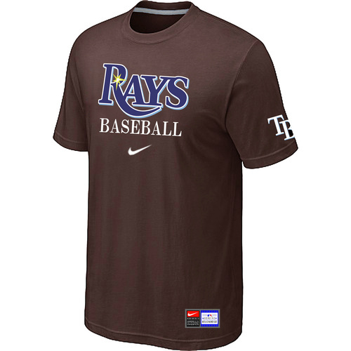 MLB Tampa Bay Rays Brown Nike Short Sleeve Practice T-Shirt