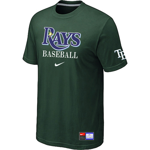 MLB Tampa Bay Rays D-Green Nike Short Sleeve Practice T-Shirt