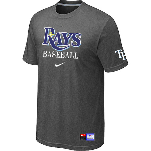 MLB Tampa Bay Rays D-Grey Nike Short Sleeve Practice T-Shirt