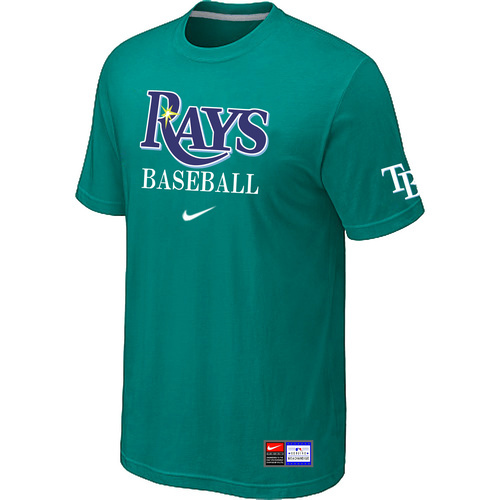 MLB Tampa Bay Rays Green Nike Short Sleeve Practice T-Shirt
