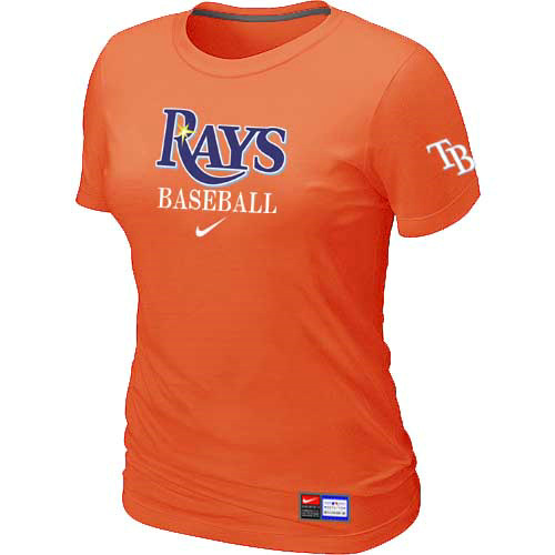 MLB Tampa Bay Rays Nike Womens Orange Short Sleeve Practice T-Shirt