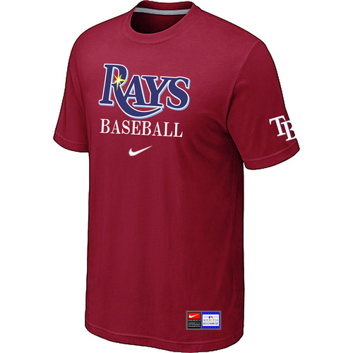 MLB Tampa Bay Rays Red Nike Short Sleeve Practice T-Shirt