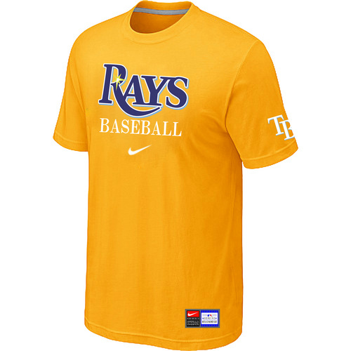 MLB Tampa Bay Rays Yellow Nike Short Sleeve Practice T-Shirt