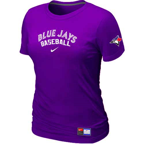 MLB Toronto Blue Jays Nike Womens Purple Short Sleeve Practice T-Shirt