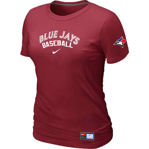 MLB Toronto Blue Jays Nike Womens Red Short Sleeve Practice T-Shirt