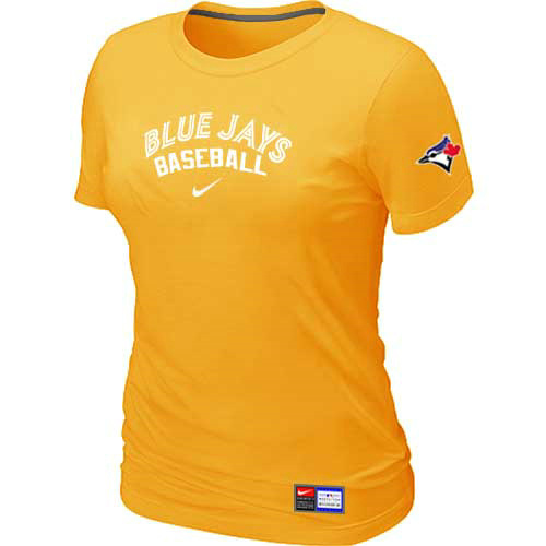 MLB Toronto Blue Jays Nike Womens Yellow Short Sleeve Practice T-Shirt