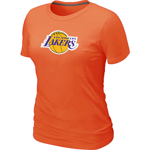 NBALos Angeles Lakers Big Tall Primary Logo Orange Womens T-Shirt