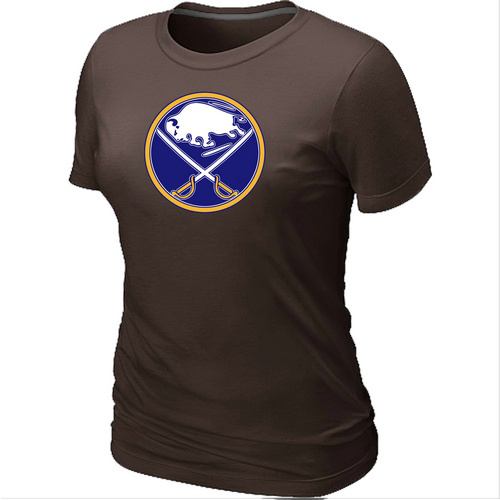 NHL Buffalo SabresBig Tall Womens LogoBrown T-Shirt