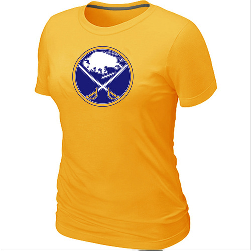 NHL Buffalo SabresBig Tall Womens LogoYellow T-Shirt