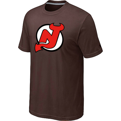 NHL New Jersey Devils Big Tall Logo Brown T-Shirt