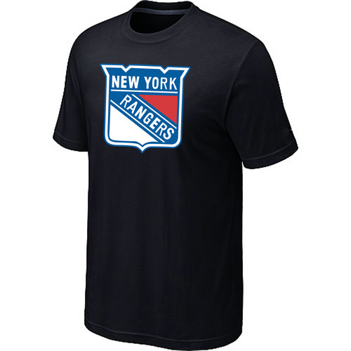 NHL New York Rangers Big Tall Logo Black T-Shirt