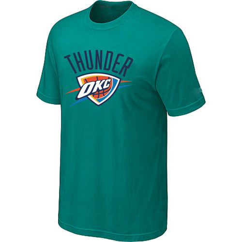 Oklahoma City Thunder Big Tall Primary Logo Green T-Shirt