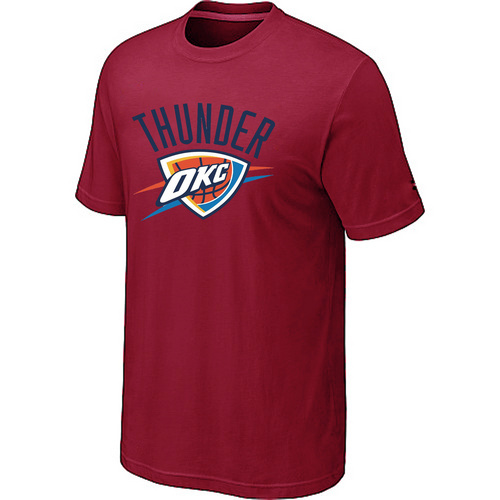 Oklahoma City Thunder Big Tall Primary Logo Red T-Shirt
