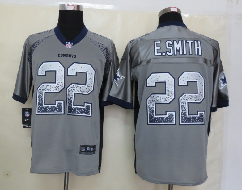 2013 NEW Nike Dallas cowboys 22 E.Smith Drift Fashion Grey Elite Jerseys