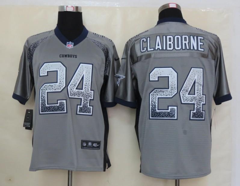 2013 NEW Nike Dallas cowboys 24 Claiborne Drift Fashion Grey Elite Jerseys