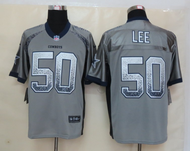 2013 NEW Nike Dallas cowboys 50 Lee Drift Fashion Grey Elite Jerseys
