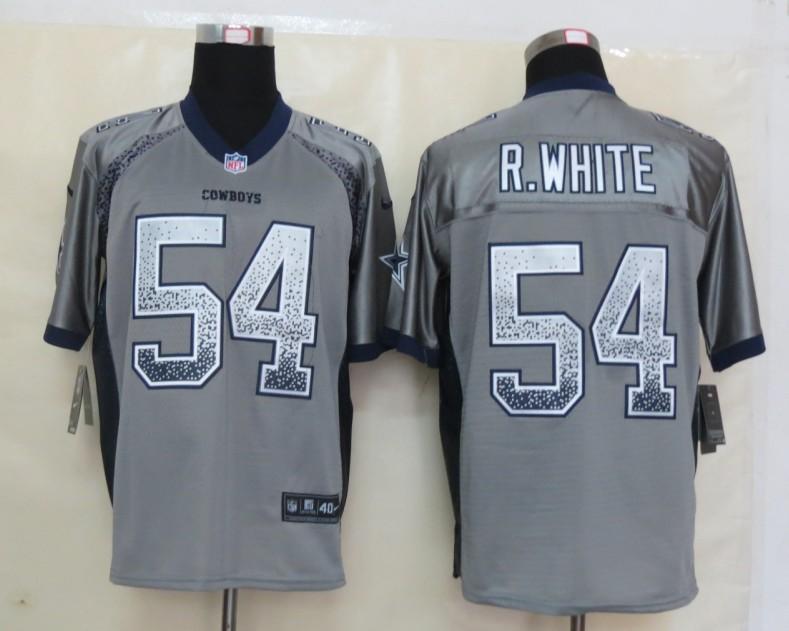 2013 NEW Nike Dallas cowboys 54 R.White Drift Fashion Grey Elite Jerseys