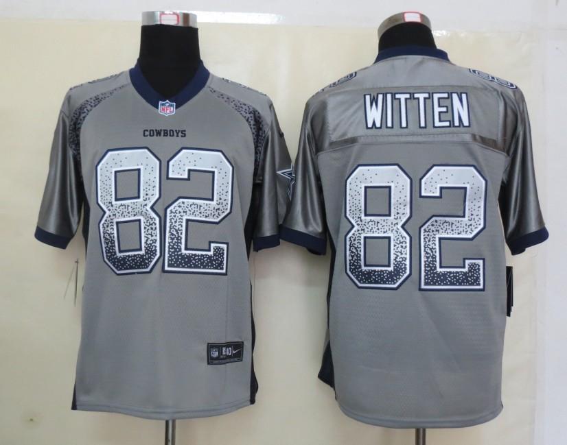 2013 NEW Nike Dallas cowboys 82 Witten Drift Fashion Grey Elite Jerseys
