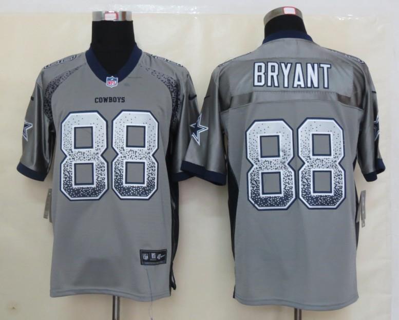 2013 NEW Nike Dallas cowboys 88 Bryant Drift Fashion Grey Elite Jerseys
