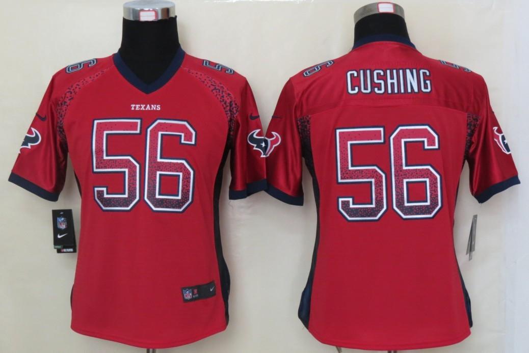 Women 2013 NEW Nike Houston Texans 56 Cushing Drift Fashion Red Elite Jerseys