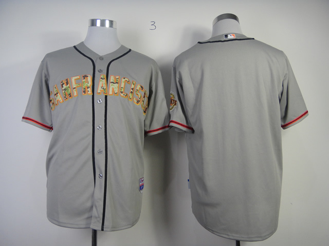 MLB San Francisco Giants Blank Grey Camo 2013 USMC Road Jersey