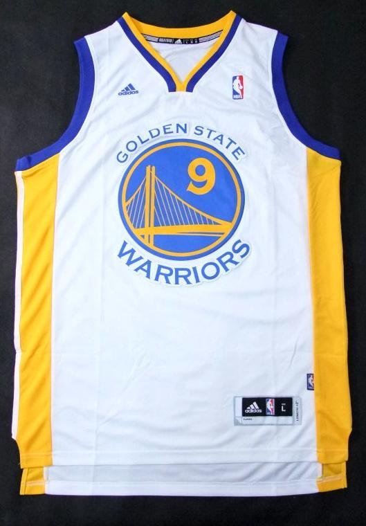 NBA Golden State Warriors 9 Andre Iguodala revolution 30 swingman white color jersey