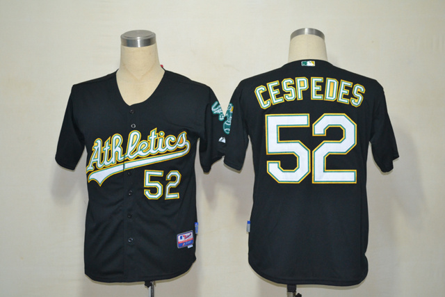 MLB Oakland Athletics 52 Yoenis Cespedes dark blue Jersey