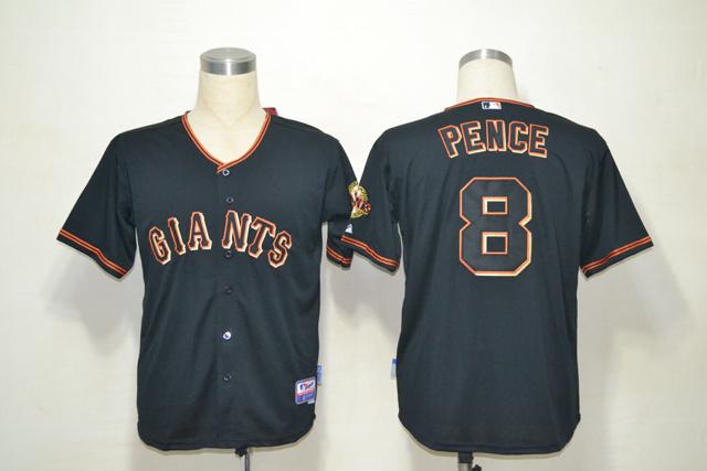 MLB San Francisco Giants 8 Hunter Pence Black Jerseys