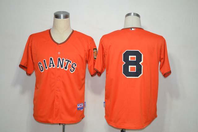 MLB San Francisco Giants 8 Hunter Pence Orange Jerseys