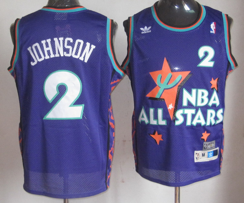 NBA 2 Larry Johnson 1995 all star game purple jersey