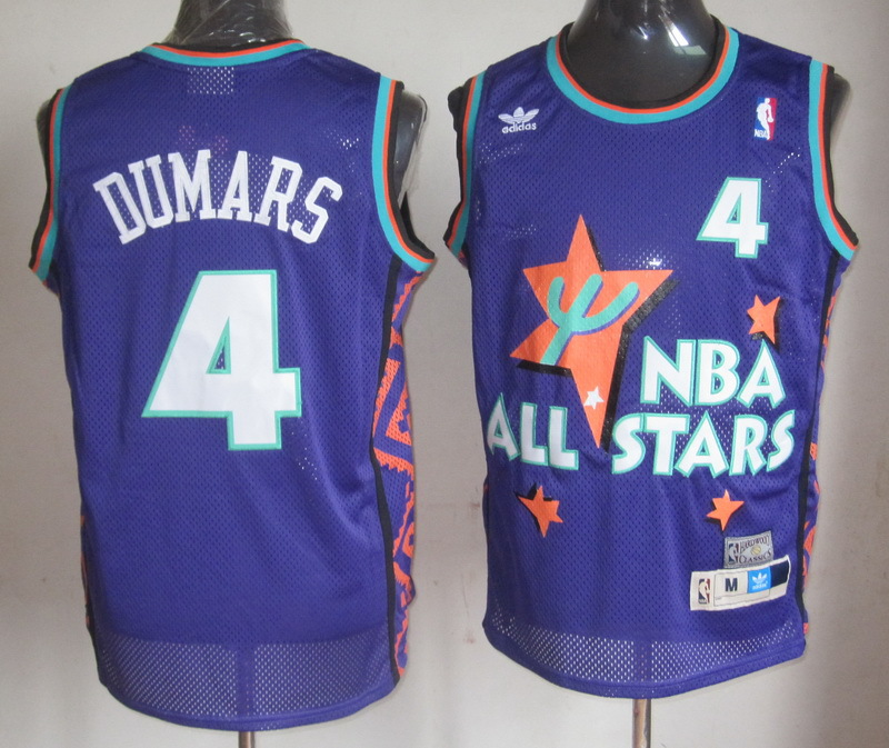 NBA 4 Joe Dumars 1995 all star game purple jersey