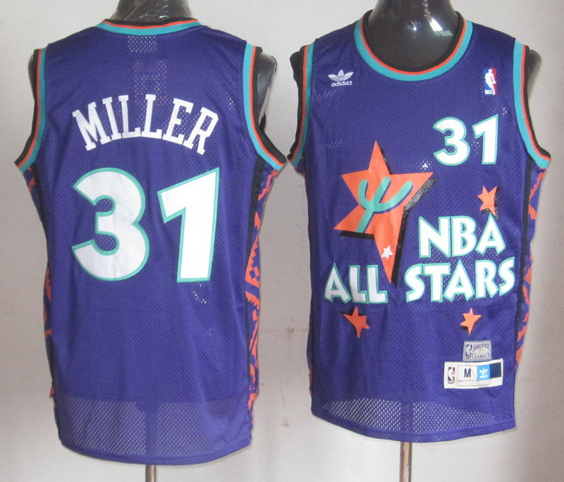 NBA 31 Reggie Miller 1995 all star game purple jersey
