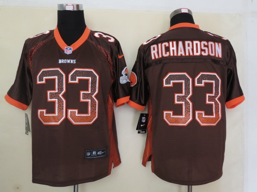 2013 New Nike Cleveland Browns 33 Richardson Drift Fashion Brown Elite Jerseys
