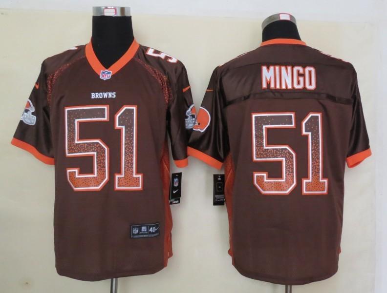 2013 New Nike Cleveland Browns 51 Mingo Drift Fashion Brown Elite Jerseys