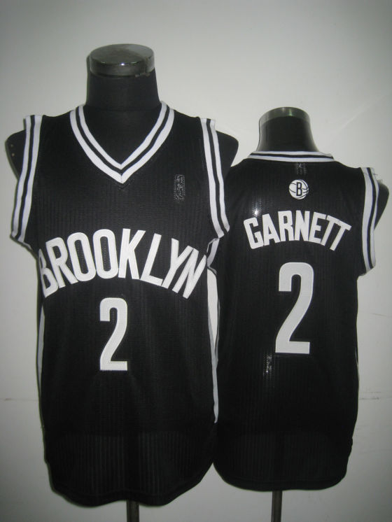 NBA Brooklyn Nets 2 Kevin Garnett 2013 new material black jersey
